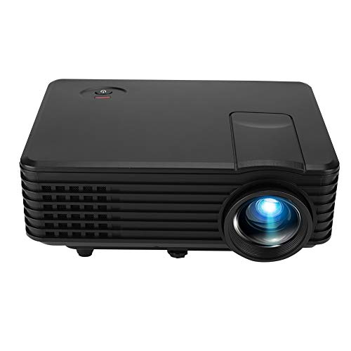 V BESTLIFE Projector, RD-805 Mini Portable Home Office LED 800480 HD Resolution Video Projector with Multi Extension Interface-Black (US Plug)