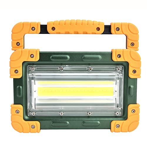 BOLORAMO Luz de Trabajo de luz de inundación Plegable de aleación de Aluminio, Foco de Mano COB Luz de inundación LED Dispositivo de iluminación de Foco Recargable de 5000 LM para Actividades al