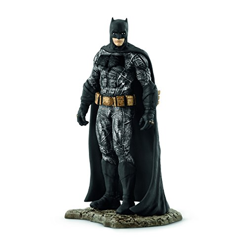 Figura superhéroe Batman modelada con gran detalle. Pintada minunciosamente a mano. Personaje del universo de DC Comics. Dimensiones: 14 x 8,5 x 18,5 cm (Ancho x Largo x Alto) Gama DC Comics de Schleich.