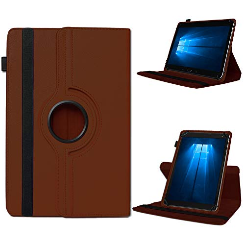UC-Express Odys Connect 7 Pro Tasche Tablet Hülle Cover Hülle Schutzhülle 360° Drehbar Etui, Farben:Braun