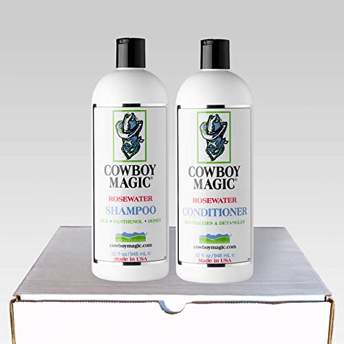 Cowboy Magic Rosewater Shampoo + Conditioner 32 Ounce Each