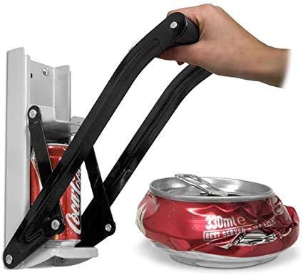 Glow Premium - Trituradora de latas y abrebotellas para pared, color gris