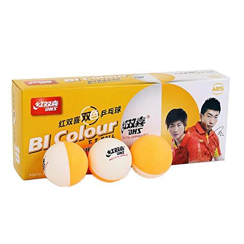 DHS 40 pelotas de tenis de mesa de ABS bicolor (10 pelotas)