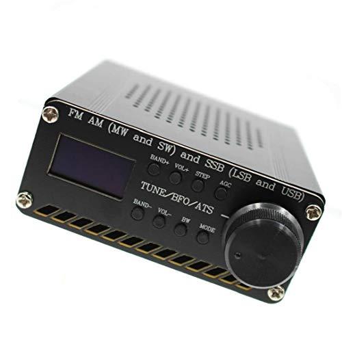 Durable Radio Receiver Full Band Receiver Si4732 Fm Am SSB Airband Radio Receiver Scanner Portable Handheld Radio Recorder Black