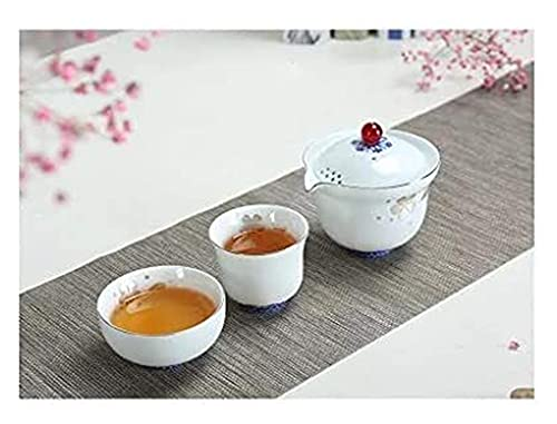 LBBZJM Conjunto de café Conjunto de té Conjuntos de té Conjuntos de té, Tetera cerámica y Taza de té, Traje Personal Pintado a Mano, Esencial para Viajes al Aire Libre, Familia, té de Oficina