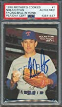 1990 Mother's Cookies #1 Nolan Ryan PSA/DNA Certified Authentic Autographed Signed 1557