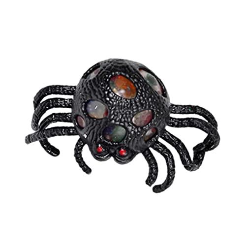 BeAteam Arañada de Halloween - Juguete antiestresas, diseño de araña, color delicado, para accesorios de farcia, decoración de Halloween