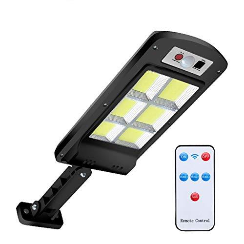 Khaco Luzes de rua solares LED, sistema de controle de luz inteligente à prova d'água Suporte ajustável Sensor remoto com 3 modos para jardim, rua, convés, cerca, pátio, caminho
