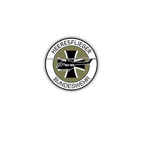 Copytec Aufkleber/Sticker -Heeresflieger Bundeswehr BO105 Heer BW Bückeburg Fritzlar Fürstenfeldbruck Patch Wappen Abzeichen Heli 7x7cm #A3631