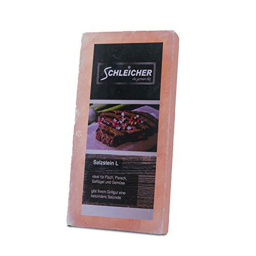 Schleicher® Premium BBQ Grill Salzstein - Größe L - 10er Set Salzstein zum Grillen Maße: 20x10x2,5cm reinstes Kristallsalz Salzplatte Salzblock für fantastisches Grillerlebnis für Grill & Backofen