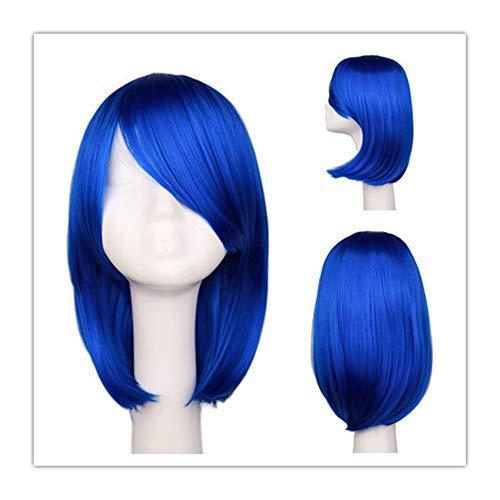 Variété Visage court réparation cheveux courts de cheveux Divers Bleu de mode en Europe (Color : Blue)