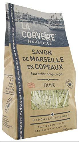 La Corvette Sachet de Savon de Marseille en Copeaux à l'huile d'Olive Extra Pur Ecocert 750 g