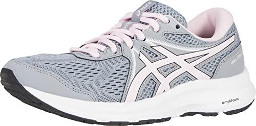 ASICS Women's Gel-Contend 7 Running Shoes, 9.5, Sheet Rock/Pink Salt