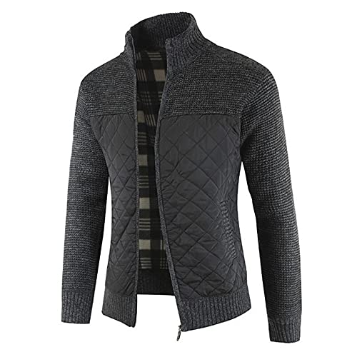 Hombres Suéter Chaqueta Stand Collar Suéter Capa Otoño Hombres Ropa