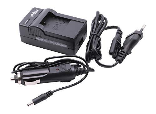 vhbw Akku Ladegerät Ladeschale passend für Qumox Sjcam M10, SJ4000, SJ5000, SJ6000 Digitalkamera- Camcorder- DSLR- Action Cam-Akku