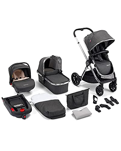 Babymore MeMore 13 Piece Baby Travel System with Baby Stroller Pushchair,...