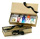 Mary Kay Miniature Fragrance Collection IN GIFT BOX with Bow! ~ 6 Mini Mary Kay Travel / Purse Size Perfumes, Parfumes, & Toilettes !!