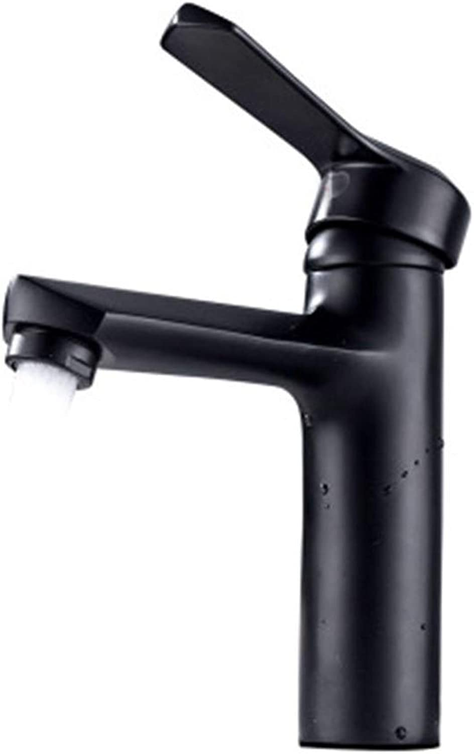 HARDY-YI Water-tap Sink Faucet Hot And Cold Bathroom Basin Pot Filling Faucet Black Above Counter Basin Bathroom Wash Basin Lavatory Faucet -0885