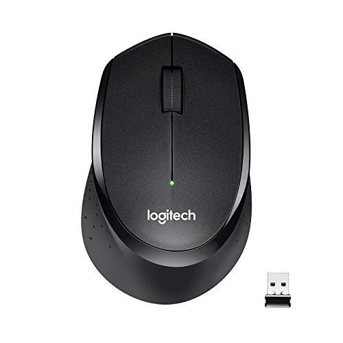Logitech M330 Silent Plus Ratón Inalámbrico, 2.4 GHz con Nano-Receptor USB, Seguimiento 1000 DPI, 3 Botones, Batería 24 Meses, Compatible con PC/ Mac/Portátil, Negro