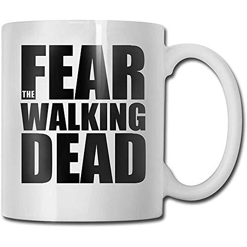 Tazas Fear The Walking Death Moda Blanco Diseño Divertido Taza de café Tee Cup Regalo para fanáticos Esposo Esposa Novia