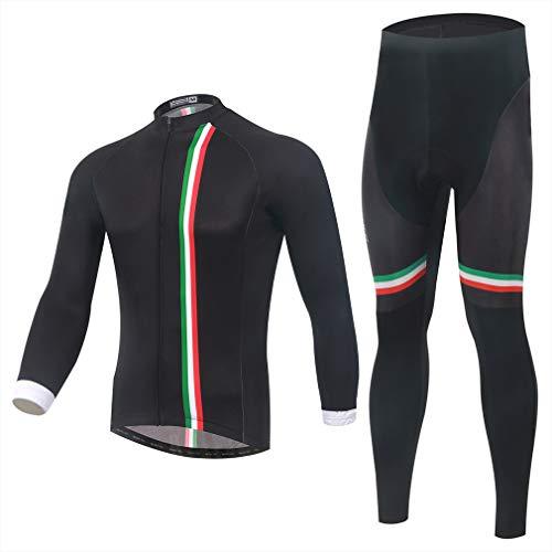Geheime nacht lente en herfst mannen lange mouwen Jersey pak winddicht warm mountainbike rijden pak