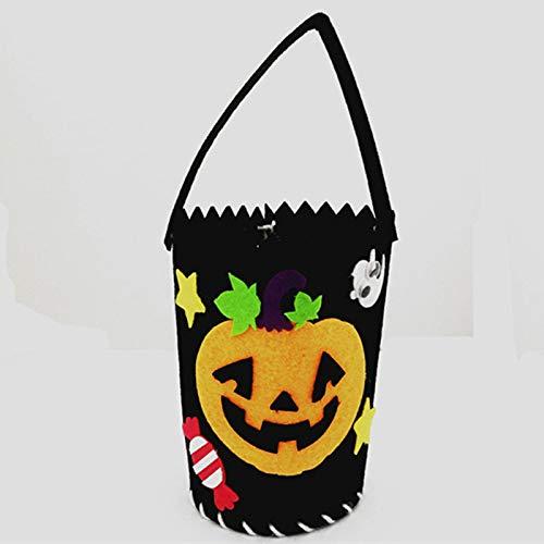Nyyi Vlies Halloween Tote, Kreative DIY Handarbeit Vlies Candy Bag Kürbis/Prinzessin/Burg Tasche Kinder Geschenk Tasche Einkaufstasche Für Halloween Und Neujahr Party Dekoration