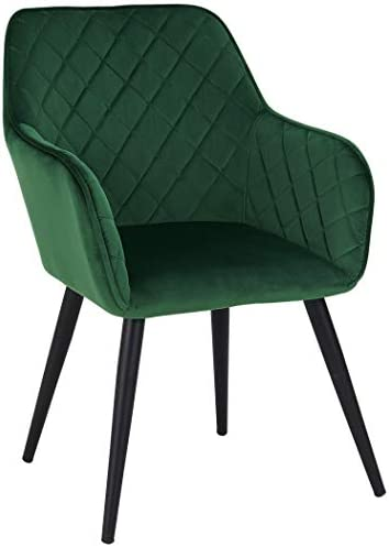 Best Duhome Accent Chair, Upholstered Chairs Mid Century Velvet Waiting Room Reception Chairs Living Room
