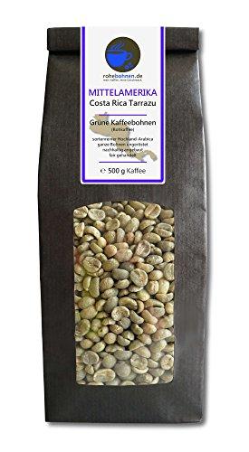 Rohkaffee - Grüner Hochland Kaffee Costa Rica Tarrazu (grüne Kaffeebohnen 500g)