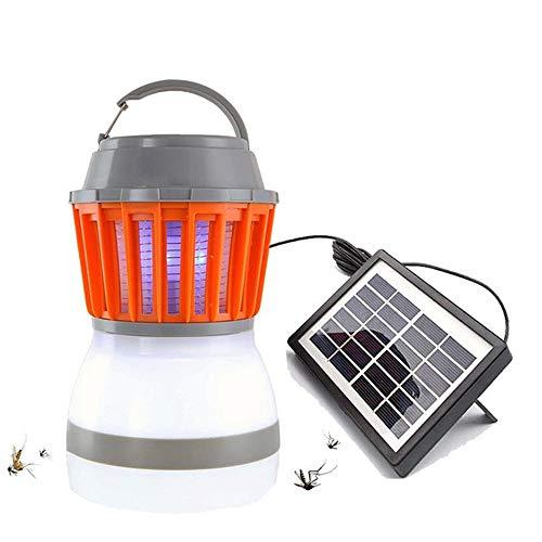 Paquete De 2 Lámparas Asesinas De Mosquitos con Energía Solar, Linterna para Acampar con Trampa para Eliminar Insectos, Luz Ultravioleta Eléctrica Portátil 2 En 1 USB Antimosquitos, para Interiores