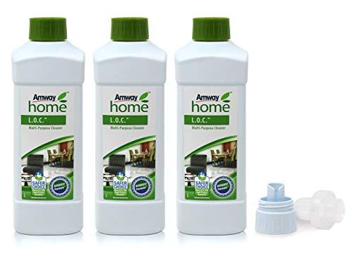 3 x Mehrzweckreiniger L.O.C.™ - Multi Purpose Cleaner - 3 x 1 Liter + 1 x Dosier- und Messkappe - Amway - (Art.-Nr.: 0001)