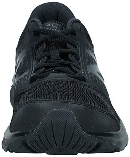 New Balance Men's 411 Running Shoes, Black Triple Black, 10.5 UK