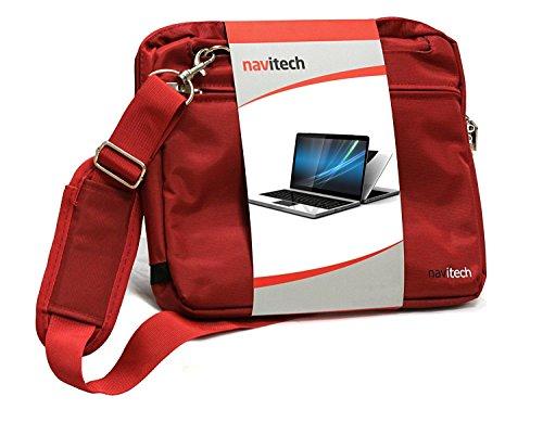 Navitech Sac de Transport Rouge Ordinateur Compatible avecASUS C302CA-GU010 360 Degrees Rotatable Full HD Touchscreen Chromebook Flip 12.5 inch Notebook