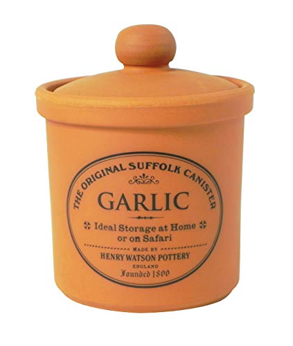 Henry Watson - Garlic Keeper - Terracotta - Made in England - The Original Suffolk Collection - 3.8 inches x 4 inches
