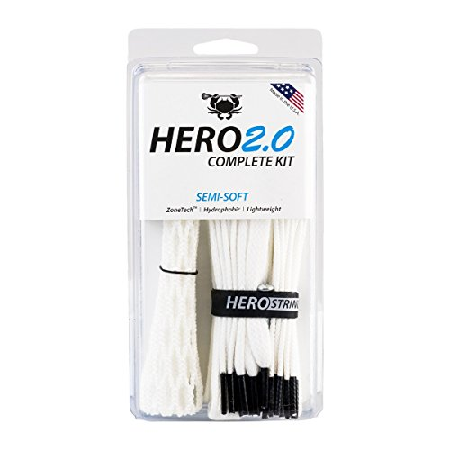 ECD Lacrosse East Coast Dyes Hero2.0 Complete Kit Semi-Soft Lacrosse Mesh White