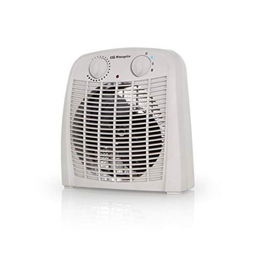 Orbegozo FH 7000 – Calefactor baño con 2 niveles de calor y modo ventilador de aire frío. 2000 W de potencia