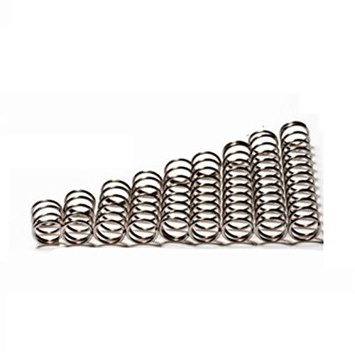 Ruirli-Kits de muelles 1mm Muelle de compresión de 0,15 mm de diámetro diámetro Exterior 20pcs Alambre, Longitud de 3 mm / 4 mm / 5 mm Resistente al óxido y Duradero (Length : Length 5mm)