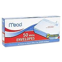 (ミード) Mead Press-It Seal-It 封筒 洋型10号 テープ付き 白色 1箱50枚入り(75024) Pack Of 24 ホワイト