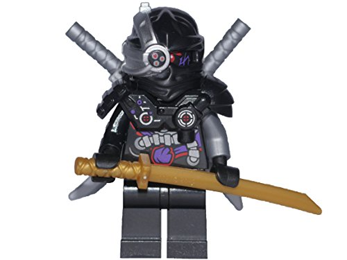 LEGO Ninjago Minifigur GENERAL CRYPTOR with Weapon - Nindroid Leader - 2016 (70596)