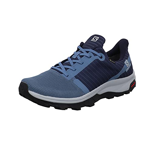 Salomon Outbound Prism GTX Zapatillas De Sanderismo Impermeables De Mujer, Azul claro/Azul oscuro (Copen Blue/Dark Denim/Pearl Blue), 38 EU