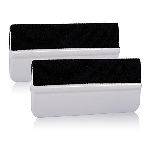 Ehdis® 2 piezas de abrigo del vinilo suave Herramienta Mini tinte de la ventana de película Instalación Enjugador fibra del carbón 3D de vinilo aplicador de película raspador de vinilo Envolturas y Adhesivos