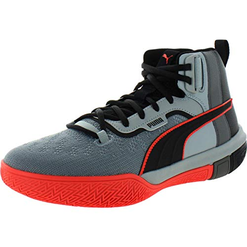 small PUMA Men's Legacy Disrupt Basketball Casual Shoes, Black, 10.5