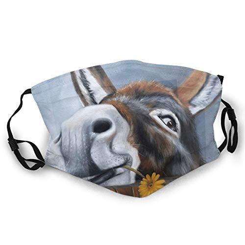 BwwoBing - Mscara de esqu con estampado de margaritas de burro, para mujeres y hombres
