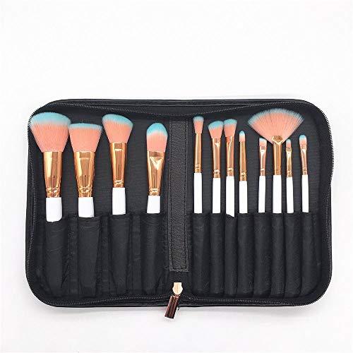 Llxxx Pinceau de Maquillage-Ensemble de 12 pinceaux de Maquillage pour débutants et maquilleurs Professionnels, A