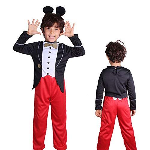 SSRSHDZW Cosplay para nios pelcula de Anime Mickey Mouse patrn de Dibujos Animados Ropa Cosplay Disfraces de Escenario Disfraz de actuacin mscara de Carnaval Disfraz de Juego de rol,XL