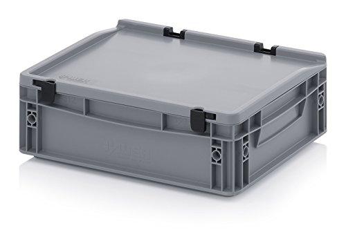 Eurobehälter-Eurobox 40 x 30 x 13,5 cm mit Scharnierdeckel inkl. gratis Zollstock