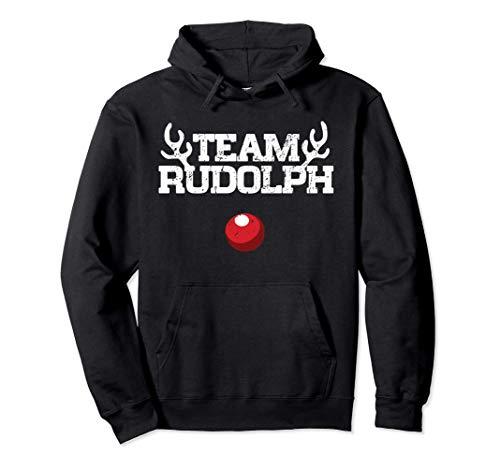 Team Rudolph Funny Christmas Reindeer Lover Gift Pullover Hoodie