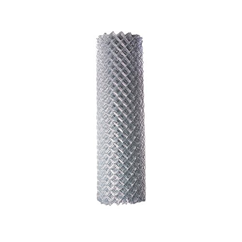 ALEKO CLF115G6X50 Chain Link Mesh Roll for DIY Fence System Galvanized Steel for Home Business Agriculture 6 x 50 Feet Silver