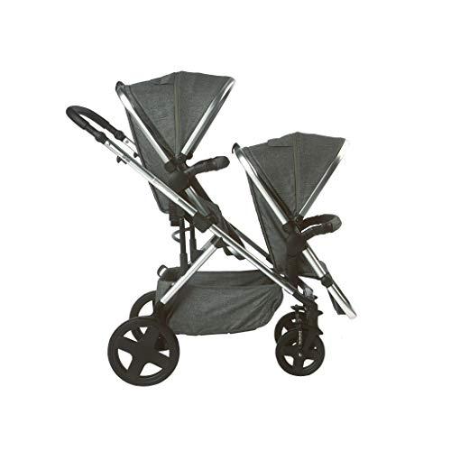 Titaniumbaby Orion Duo-Kinderwagen, geeignet für Zwei Kinder mit größeren Altersunterschied, Anthrazit