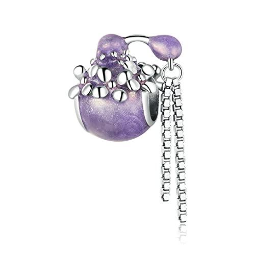 LIJIAN DIY 925 Sterling Jewelry Charm Beads Botella De Perfume Platino Plateado Hacer Originales Pandora Collares Pulseras Y Tobilleras Regalos para Mujeres