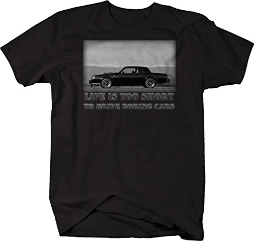 Life is Too Short GNX Grand National Turbo Muscle Car T Shirt Large Black